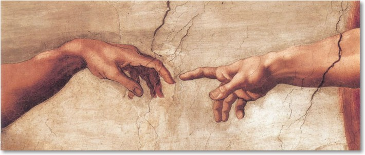 Michelangelo_Buonaroti_Ceiling_of_the_Sistine_Chapel_Creation_of_Adamdetail_2_grandem