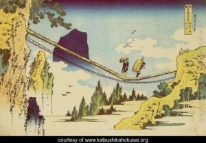 Suspension-Bridge-on-the-Border-of-Hida-and-Etchu-Provinces-(Hietsu-no-sakai-tsuribashi)