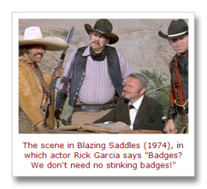 Blazing Saddles, No Stinking Badges scene[19]