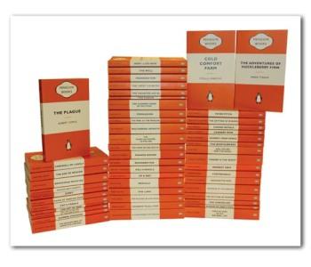 PenguinBookPlagueStackFramed