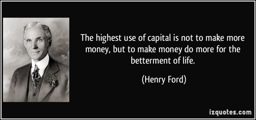 Lo diceva persino Henry Ford