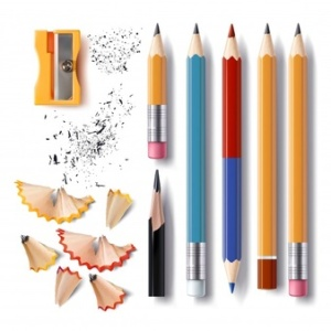 set-of-vector-sharpened-pencils-of-various-lengths-with-a-rubber-a-sharpener-pencil-shavings_1441-352
